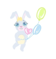 Bunny With Balloons vector