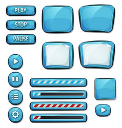 cartoon diamonds elements for ui game vector image