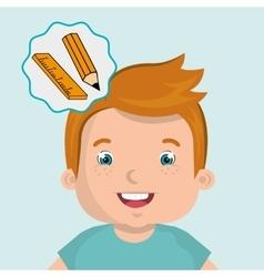 Child chat student school vector