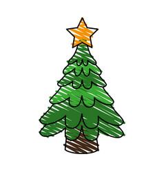 Christmas tree icon image vector