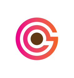 circle business finance logo vector image