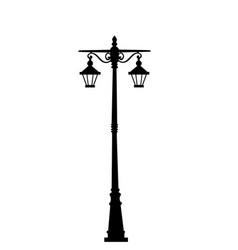 city street lantern vector image
