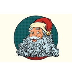 Classic Santa Claus with white beard vector image