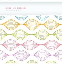 Colorful horizontal torn ogee seamless pattern vector image