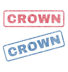 Crown textile stamps vector