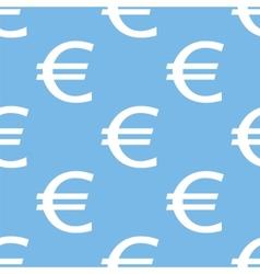 Euro seamless pattern vector image