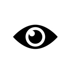 eye sign icon vector image