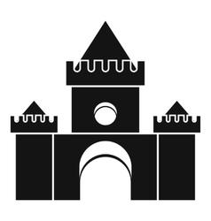 Fairytale castle icon simple style vector