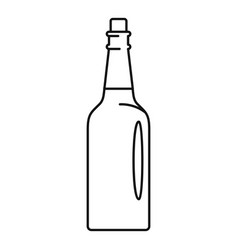 Fine olive oil bottle icon outline style vector