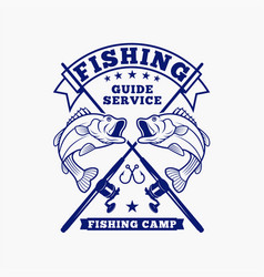 Fishing logo badge 4 vector