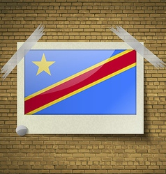 Flags Congo Democratic Republic at frame on a vector image