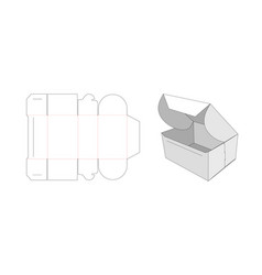 folded packaging box die cut template design vector image