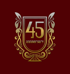 forty fifth anniversary vintage logo symbol vector image