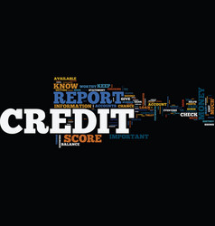 free credit report and score why you need them vector image