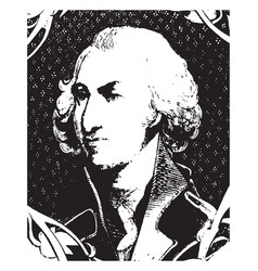 General philip schuyler vintage vector