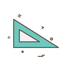 geometry scale icon design vector image