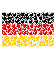 german flag mosaic of floral sprout icons vector image