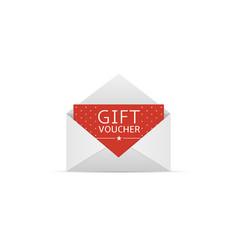 Gift voucher card vector
