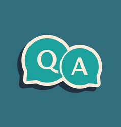 Green speech bubbles with question and answer icon vector