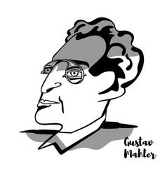 gustav mahler portrait vector image