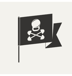 GYM pirate logo vector image
