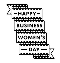 Happy business womens day greeting emblem vector