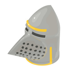 helmet knight old icon isometric 3d style vector image