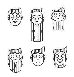 hipster character icon vector image