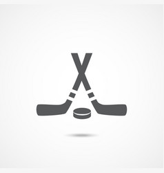 hockey flat icon vector image