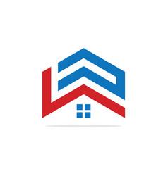 Home abstract logo design vector