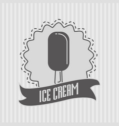 ice cream logo or badge concept vector image vector image