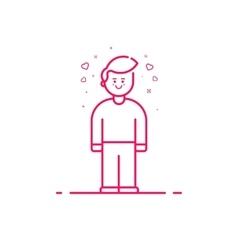 icon valentines day concept vector image