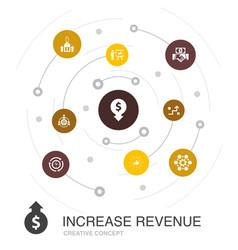 Increase revenue colored circle concept vector