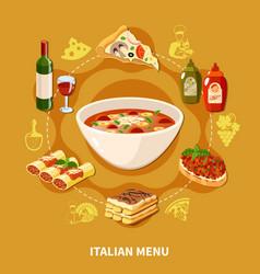 Italian cuisine set vector