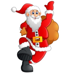 Jolly Father Christmas Cartoon vector