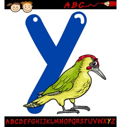 Letter y for yaffle cartoon vector
