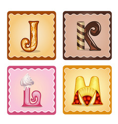Letters jrlm candies vector
