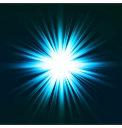 Light flare blue effect vector image