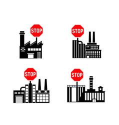 Lockdown forbidden factory icon prohibited vector