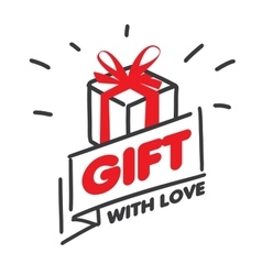 Logo for gifts vector