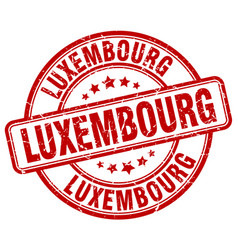 luxembourg stamp vector image