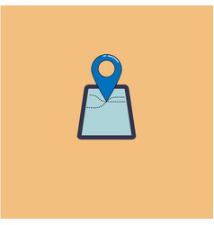 map mark in flat style isolated vector image