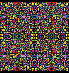 multicolor abstract pattern with circles vector image