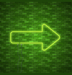 neon arrow sign vector image