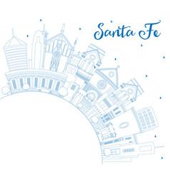 outline santa fe new mexico city skyline vector image