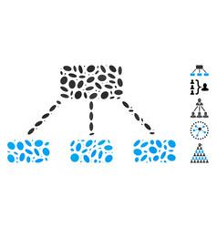 Oval mosaic hierarchy vector