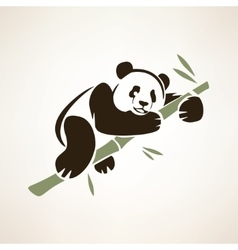 panda isolated symbol vector image