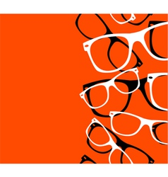 Pattern retro hipster sunglasses abstract vector