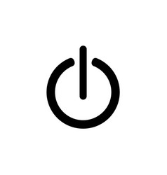 power onoff icon flat design style vector image
