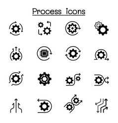 Process icon set graphic design vector